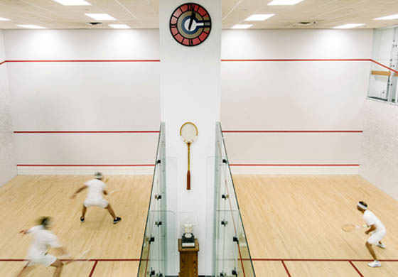 Members playing on our squash courts